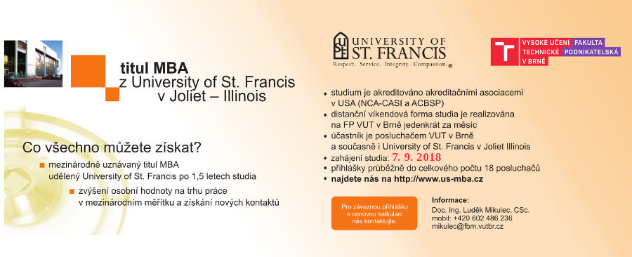 US-MBA na FP VUT Brno