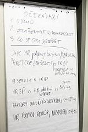 Zápis z diskuse HR business partnerství