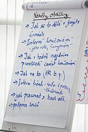 Zápis z diskuse Interní trénink a koučink