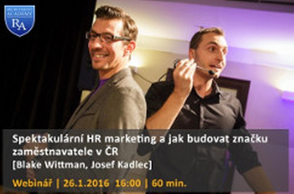 Webinář: Spektakulární HR marketing a jak budovat značku zaměstnavatele v ČR
