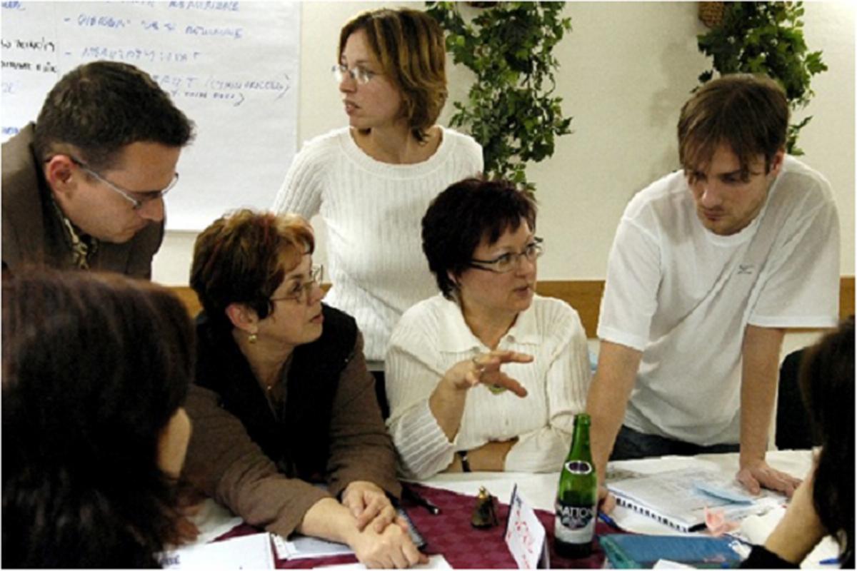 Skupinová diskuze na kurzu Lean Office