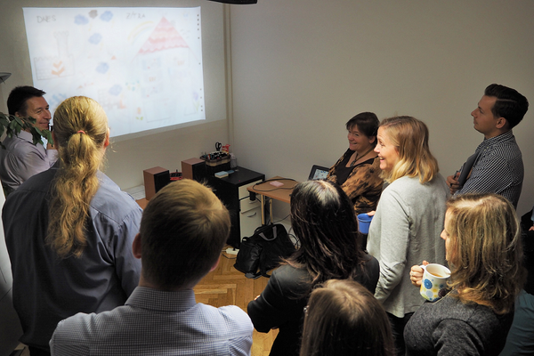 """Fotografie z HR snídaně Image Lab """"Jak vytvořit motivační atmosféru ve firmě?"""""""