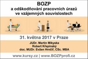 Vyhrajte vstupenku na seminář o odškodňování pracovních úrazů - Praha, 10.5.2017