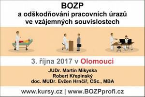 Vyhrajte vstupenku na seminář o odškodňování pracovních úrazů - 3.10.2017, Olomouc