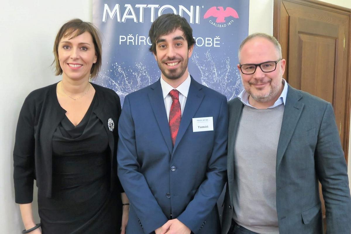 Europoslankyně Dlabajová, student Tomáš Vik a CEO KMV Pasquale