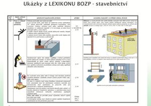 Ukázka z Lexikonu BOZP - stavebnictví
