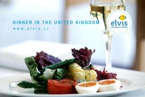 Angličtina s jazykovou školou Elvis: Večeře ve Spojeném království