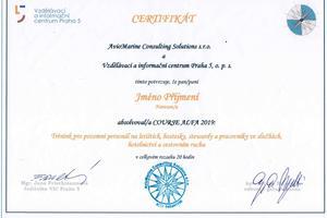 Course Alfa - certifikát