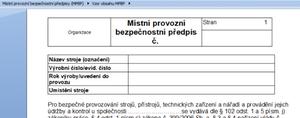 Obsahová stránka MPBP