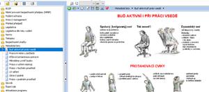 Příklad metodického listu, který přibližuje požadavky ochrany zdraví při práci vsedě