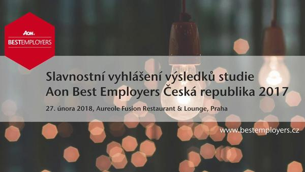 Aon představuje nejlepší zaměstnavatele roku 2017