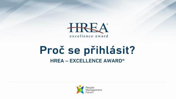 Přihlašte svůj HR projekt do dalšího ročníku HREA - Excellence Award®