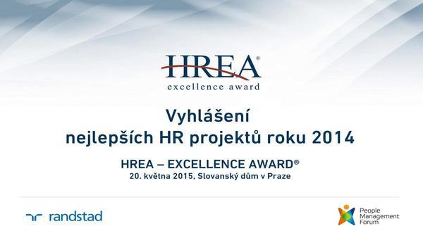 HREA - Excellence Award® už zná nejlepší HR projekty roku 2014
