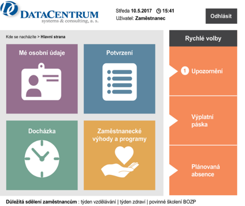 HR portál, DataCentrum systems & consulting