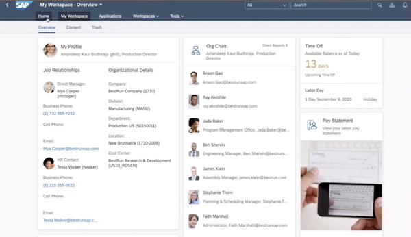 SAP Workforce Zone for HR