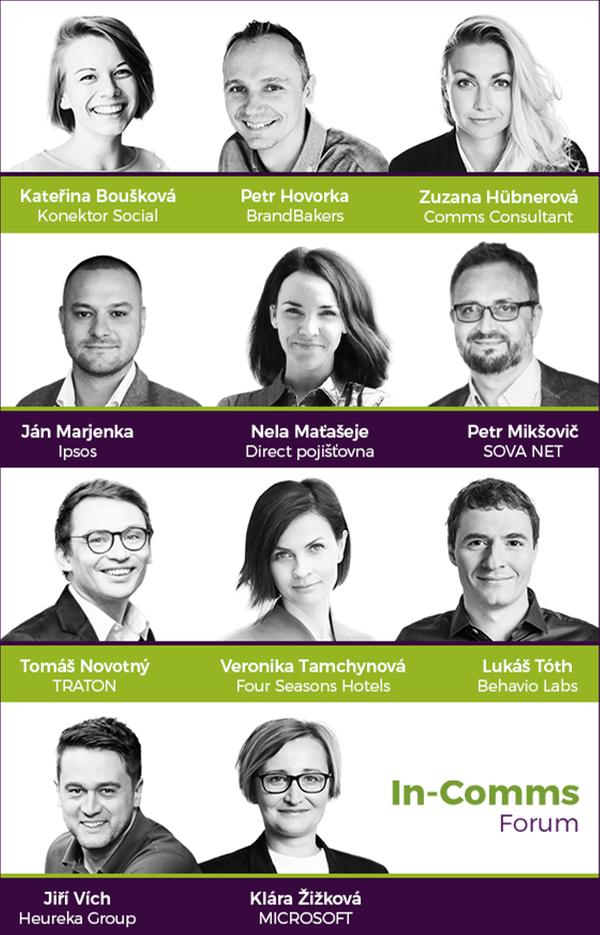 konference In-Comms Forum 2021 - řečníci
