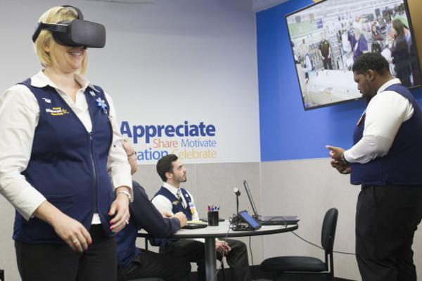 Walmart: Virtual Reality Debuts in Associate Training. Photo: http://blog.walmart.com